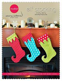 Free pattern: Elf stocking · Sewing | CraftGossip.com