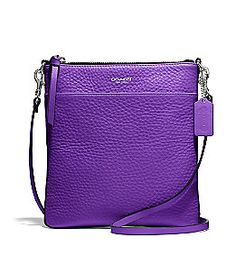 COACH Bleecker North/South SWINGPACK in Purple PEBBLED LEATHER