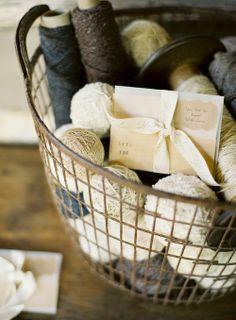 vintage wire basket of yarn&possibilities...