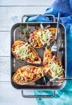 Jauheliha-uunibataatit Barbecue Recipes, Wine Recipes, Pork Recipes, Cooking Recipes, Healthy Recipes, Healthy Food, Recipies, Vegan Foods, I Foods