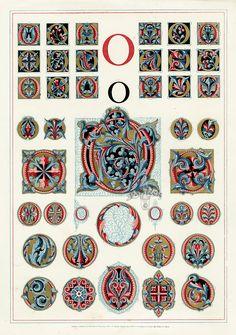 Owen Jones Illuminated Letters, gilt prints of the alphabet from 1864 Fancy Letters, Monogram Letters, Free Monogram, Monogram Fonts, Alphabet Art, Letter Art, Graffiti Alphabet, Illuminated Letters, Illuminated Manuscript