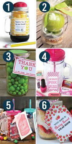Teacher Appreciation Ideas in a Jar