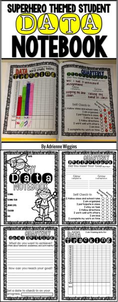 Superhero themed data notebook for students to track their own data for growth. Built in reflections and goal setting! 2nd-5th grade. Great for Baldrige school data notebooks or binders!