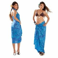 1 World Sarongs Mens Lotus Floral Sarong in Blue//Black LavaLava