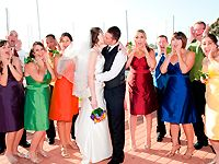 Aria bridesmaid dresses in multiple colors silk shantung.