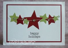 Love the simplicity of this Star Christmas card.