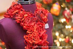 Flounce Ruffle Scarf - Red - CHRISTMAS SALE. $15.00, via Etsy.
