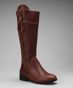 Take a look at this Brown Tempt Equestrian Boot - Women on zulily today!