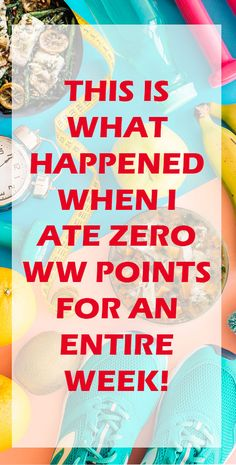Weight Watchers Freestyle Zero Point Week