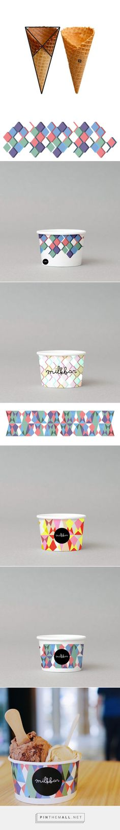 Milkbar Gelato - Packaging on Behance by Christopher Widjaja curated by Packaging Diva PD. Ice-cream cup design for Indonesian-based artisan gelato shop, The Milkbar.
