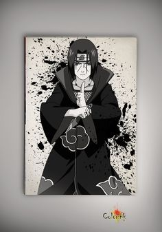 Image of naruto - Sasuke - Itachi - Sharingan - Uchiha - Madara - Kakashi watercolor print poster n207
