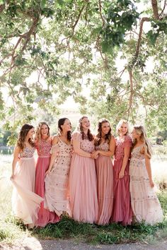 """From the editorial """"A Wedding Planner's Quintessential Southern California Wedding Weekend."""" Wanting options that felt different and unique, this bride was completely sold once she came across the different styles on @needleandthreadlondon! Each bridesmaid picked their favorite style and shade of blush and it couldn't have worked out more perfectly! Photography: @laciehansen #bridesmaiddresses #bridesmaids #blushbridesmaiddresses #bridesmaidinspo Pink Wedding Theme, Wedding Colors, Wedding Styles, Wedding Wishes, Wedding Bells, Wedding Stuff, Dream Wedding, Blush Bridesmaid Dresses, Brides And Bridesmaids"""