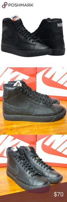 cheap for discount 32bc7 4d10d NIKE Blazer Mid GS Black Sneakers 895850-001 5.5 Y NIKE Blazer Mid (GS
