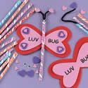 Candy and Foam Valentine Luv Bug Craft Kit. Valentine's Day crafts for kids.