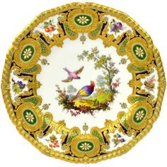 Royal Crown Derby Cabinet Plate by Desire Leroy Royal Crown Derby, Plate Wall Decor, Plates On Wall, Art Nouveau, Ceramic Materials, Modern Ceramics, Vintage Ceramic, Fashion Art, Pattern Design