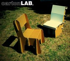 Cardboard chairs easy to assemble  designed by Cartonlab. #eventchair #chairdesigns