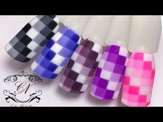ПИКСЕЛЬНЫЙ дизайн ногтей/МАЙНКРАФТ дизайнКУХОННАЯ плитка - YouTube