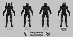 Omega Squad - A four-man Republic Commando unit featured in the books Star Wars Republic Commando: Hard Contact and Star Wars Republic Commando: Triple Zero.