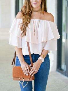 Off shoulder top in the fall!