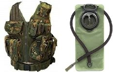 Ultimate Arms Gear Woodland Digital Camo Hunting Vest w Right Handed Quick Draw Pistol Holster  25 Liter Hydration Backpack Water Bladder Reservoir Hands Free Bite Valve Hosing * See this great product.
