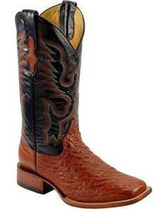 Mens Ferrini Brown Smooth Ostrich Cognac Western Cowboy Square Toe Boots 12 D - http://authenticboots.com/mens-ferrini-brown-smooth-ostrich-cognac-western-cowboy-square-toe-boots-12-d/