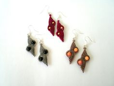 Christmas gift. Macrame earrings. Handwoven earrings. by asmina