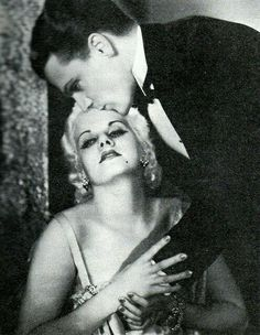 Public Enemy 1931: Jimmy didn't like kissing his leading ladies on the lips...felt it wasn't his style. .was more apt to a tender kiss on the forehead ( in this case, Jean Harlow's).