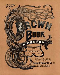 The Brown Book of Boston, February 1901.