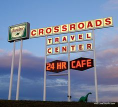 Sign for a truck stop we overnight-ed in the RV at near Missoula, Montana off I90 #LoveYourRV