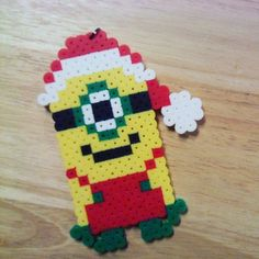 Christmas minion perler beads by jaynechains