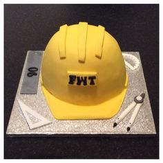Hard Hat Birthday Cake, made for a Civil Engineer x