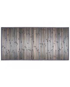 Alfombra de bambú  en color gris ideal para decorar cualquier estancia interior o exterior debido a que el bambú es un material muy resistente, de fácil limpieza