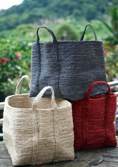 The extra large Baha Basket. These baskets are the 'hold all' in our range. Perfect for stowing away all of those kids' toys or things that you regularly use but don't want on the floor. Basket Bag, Knitted Bags, Handmade Bags, Basket Weaving, Wicker Baskets, Purses And Bags, Reusable Tote Bags, Louis Vuitton, Michael Kors