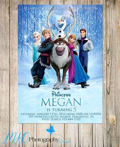 Disney Frozen Invitation, Frozen Invitation, 1st birthday, 2nd birthday, 3rd, 4th, 5th, 6th, 7th, PRINTABLE