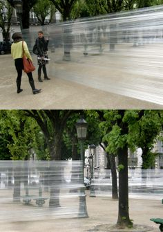 CEDRIC BERNADOTTE: TAPE-EXPERIMENTE : would love to see the reaction of the pedestrians!