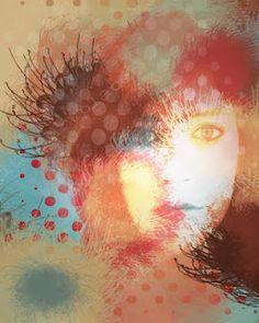"Digital Photo Portrait ""The Icey Stare."""