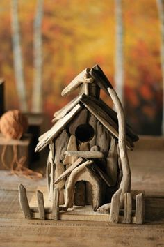 driftwood church birdhouse. adorable.