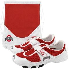 Ohio State Buckeyes White-Scarlet PIRO Tennis Shoes