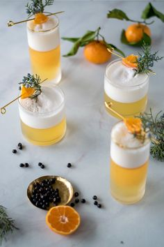 Juniper + Tangerine Gin Fizz — All Purpose Flour Child