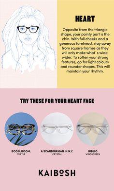 KAIBOSH   Glasses for Heart Face Shapes   Shop glasses now on www.kaibosh.com