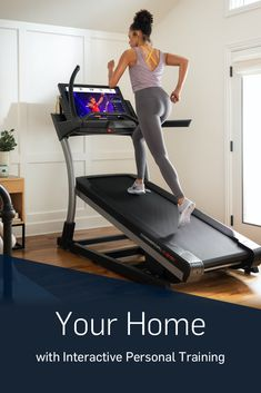 Get Interactive Personal Training at Home with the Incline Treadmill from NordicTrack Gym Workout Videos, Gym Workouts, At Home Workouts, Workout Routines, Home Gym Garage, At Home Gym, Workout Room Home, Workout Rooms, Workout Machines