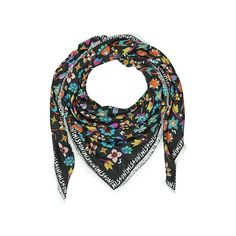 Missoni Shawls & Wraps Black Signature Frame Cashmere and Modal Wrap (2,455 CNY) ❤ liked on Polyvore featuring accessories, scarves, black, shawls & wraps, cashmere scarves, cashmere shawl, wrap scarves, missoni and missoni shawl