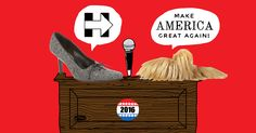 Find out what presidential candidates Donald Trump, Hillary Clinton, Ted Cruz and more look like as shoes with personality.
