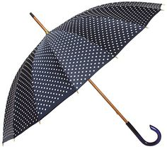 i have been looking for a navy blue polka dot umbrella for so long!