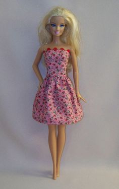 Handmade Barbie Doll Clothes Pink with by PersnicketyGrandma, $4.00