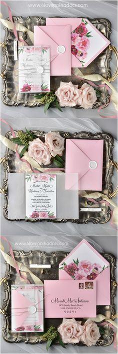 Wedding invitations #bohowedding #weddinginvitations #4lovepolkadots #weddingpaper #bohemianinvitations