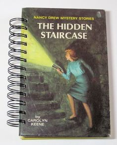 NANCY DREW Mystery Book recycled into a Spiral by heavensentcrafts, $16.00