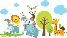 Imagens Safari para montagens digitais Jungle Party, Safari Party, Safari Theme, Jungle Theme Classroom, Classroom Themes, Baby Boy Decorations, 1st Birthday Invitations, 3d Cards, Zoo Animals
