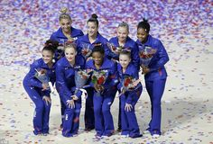 Heading to Rio: The 2016 US Olympic women's gymnastics team (clockwise from top left: Ashton Locklear (alternate), Aly Raisman, Madison Kocian, Gabrielle Douglas, Ragan Smith (alternate), Simone Biles, MyKayla Skinner (alternate) and Lauren Hernandez)