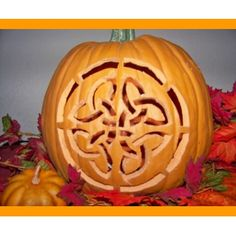 Pumpkin Carving 101. celtic design